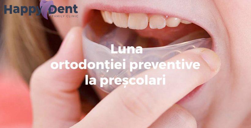 Mai – Luna Ortodonției Preventive la Preșcolari